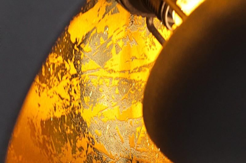 Závěsná lampa Hollywood 3 - černá, zlatá / 36228
