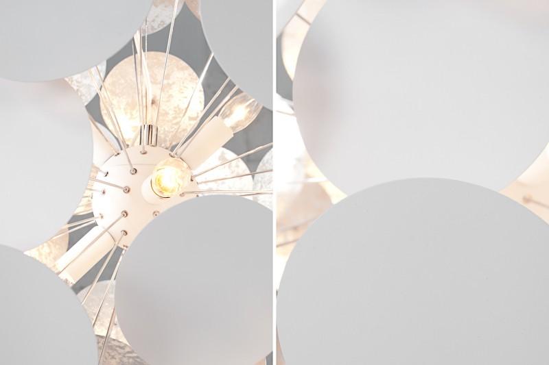 Závěsná lampa Zoey - bílá, stříbrná / 36227