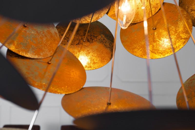 Závěsná lampa Zoey - černá, zlatá / 36226