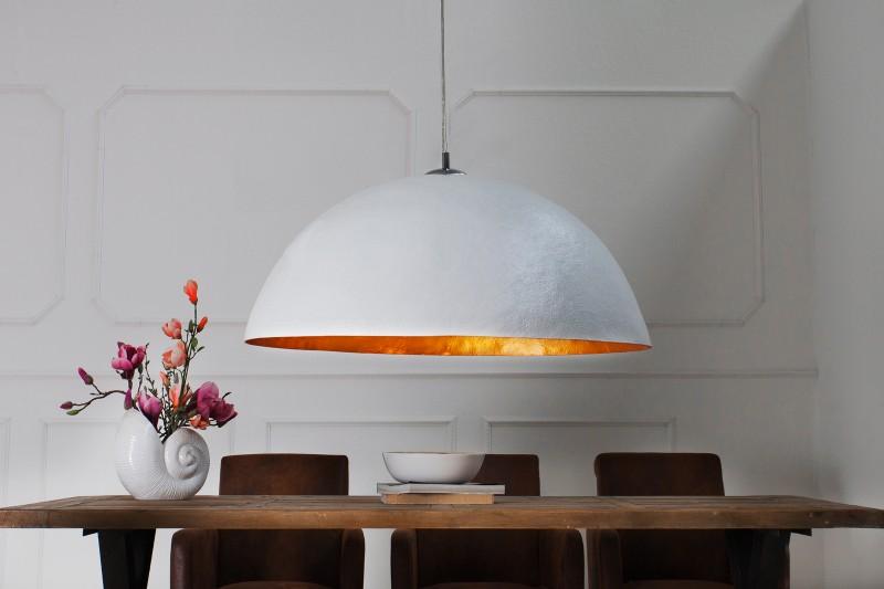 Závěsné světlo Bennett - bílá, zlatá 50cm / 36318