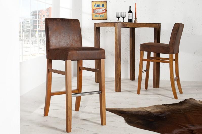 Barová židle Casa hnědá vintage / 36177