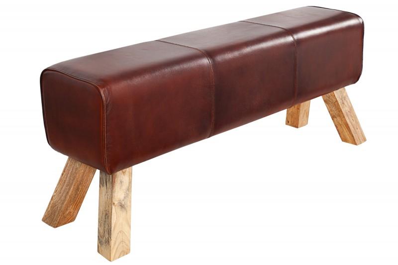 Lavice Bock 120cm x 30cm - pravá kůže / 36269