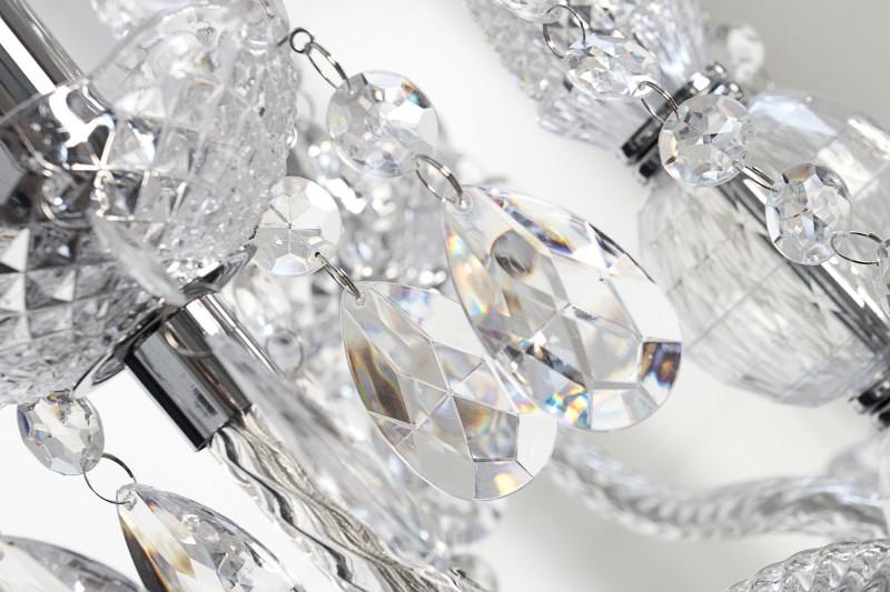 Závěsné světlo Diamond - 9 ramen, čiré / 1283