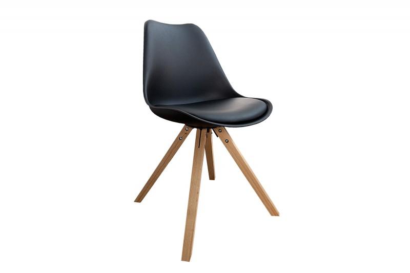 Jídelní židle Scandinavia Plastic - černá / 36188