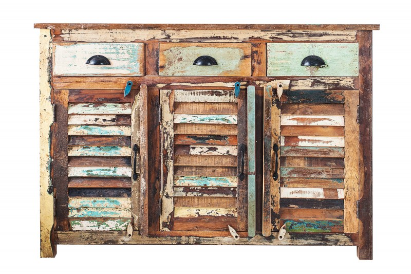 Příborník Jakarta 125cm x 90cm - recyklované dřevo / 19906