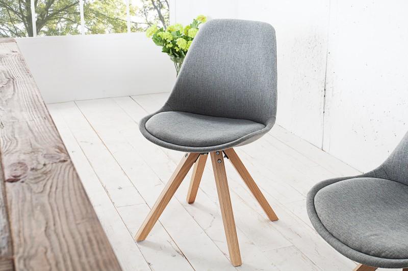 Židle Skandinávie šedá struktura masivní dřevo / 36480