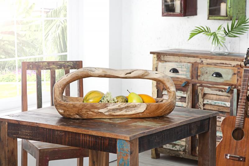 Dekorativní mísa Samarang 60cm - přírodní teak / 36152 - 1ks skladem