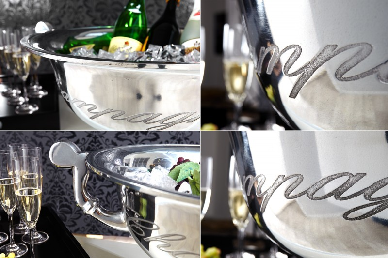 Chladič šampaňského Šampaňské 40cm stříbrné / 36380