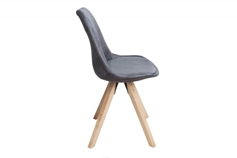 Jídelní židle Scandinavia Wood - tmavě šedá / 36505