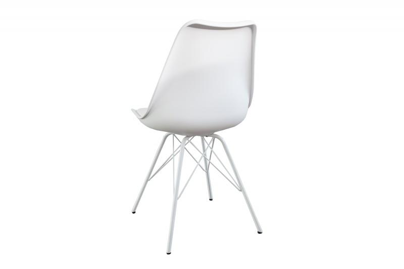 Jídelní židle Scandinavia Colors - bílá, plast / 36205