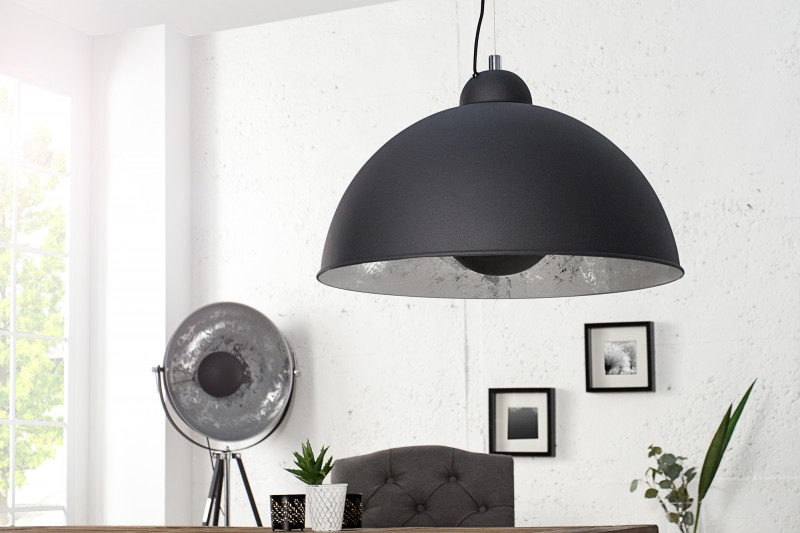 Závěsná lampa Hollywood l - černá, stříbrná / 36595