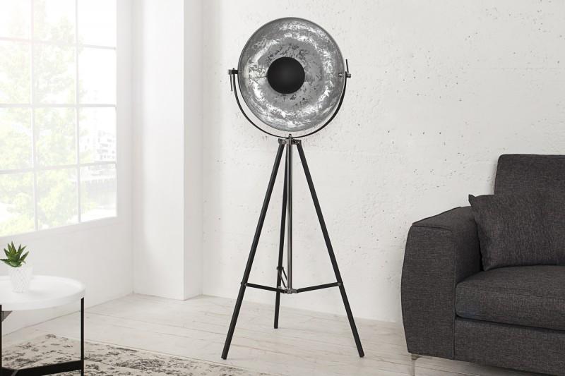 Stojací lampa Hollywood 160cm - černá, stříbrná / 36562