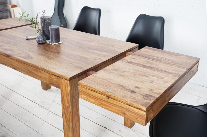 Jídelní stůl Hidalgo XL 120-200cm x 80cm - Sheesham / 20976