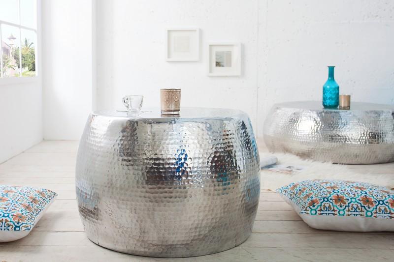 Konferenční stolek Sidon 60cm - stříbrný / 36461