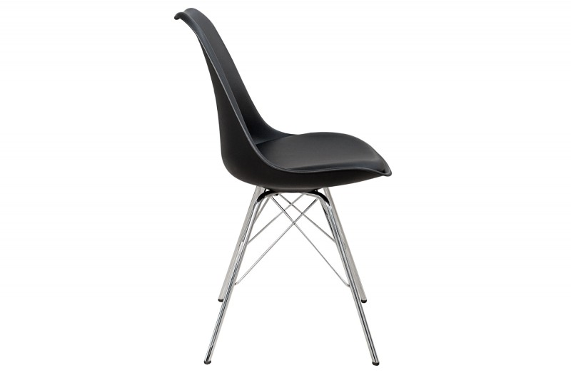 Jídelní židle Scandinavia Steel - černá, plast / 36185