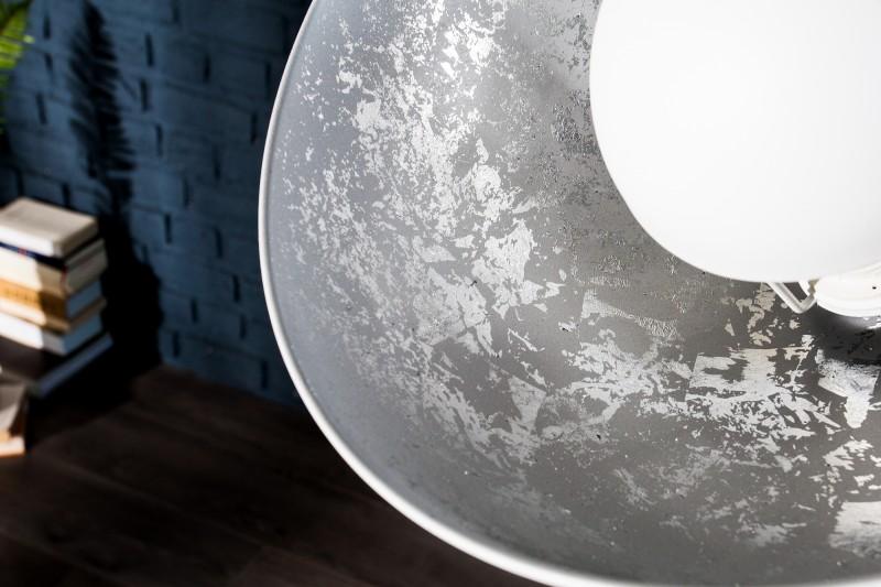 Stojací lampa Hollywood 140cm - bílá, stříbrná / 36618