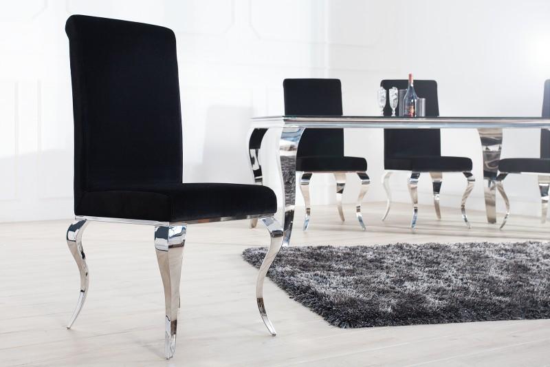 Jídelní židle Giacomo I - černá, samet / 36546