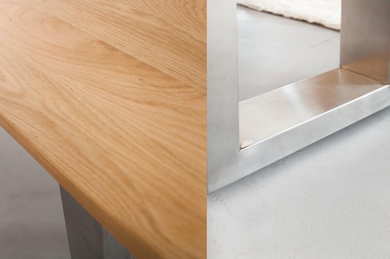 bank genesis 180cm eiche 35mm edelstahl 36408 4925. Black Bedroom Furniture Sets. Home Design Ideas