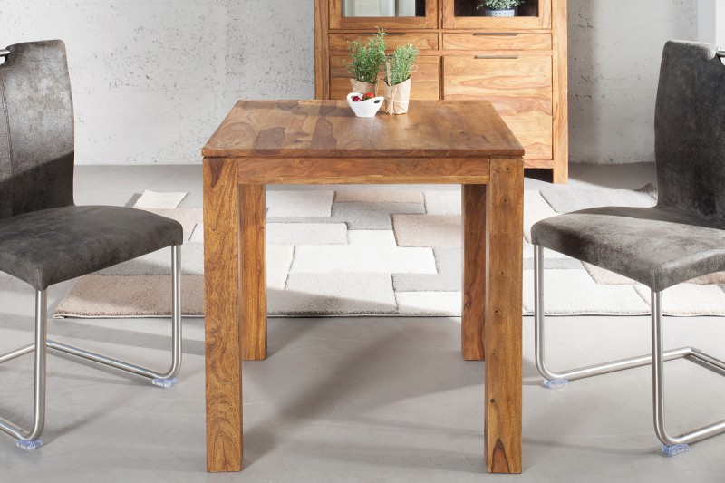 Jídelní stůl Hidalgo 70cm x 70cm - Sheesham / 36746