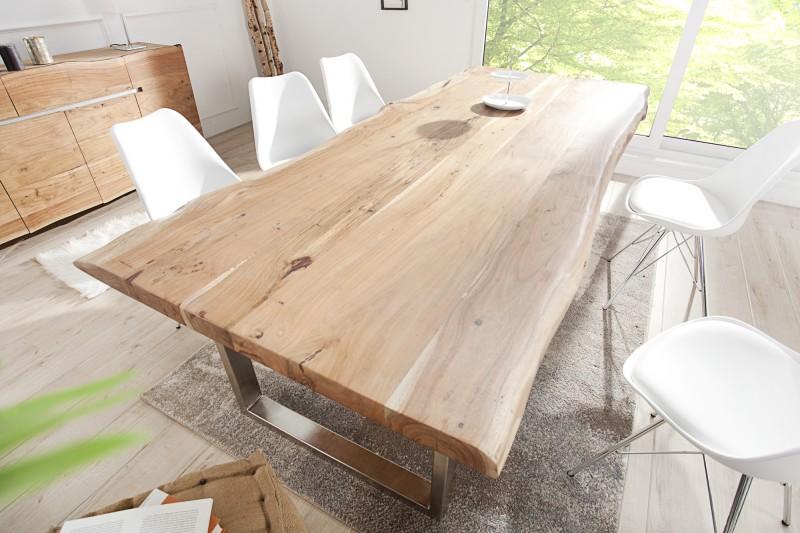 Jídelní stůl Mineiro 200cm x 100cm - přírodní akát, 60mm /36644