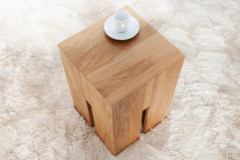 hocker castle 45cm wildeiche 36439 5206. Black Bedroom Furniture Sets. Home Design Ideas
