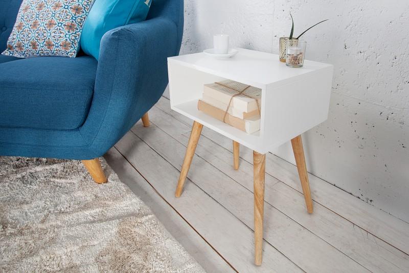 Konferenční stolek Scandinavia - bílá, dub / 36437