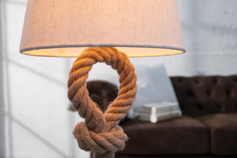 Stolní lampa Seven Seas 80cm w. pravé lano / 36751