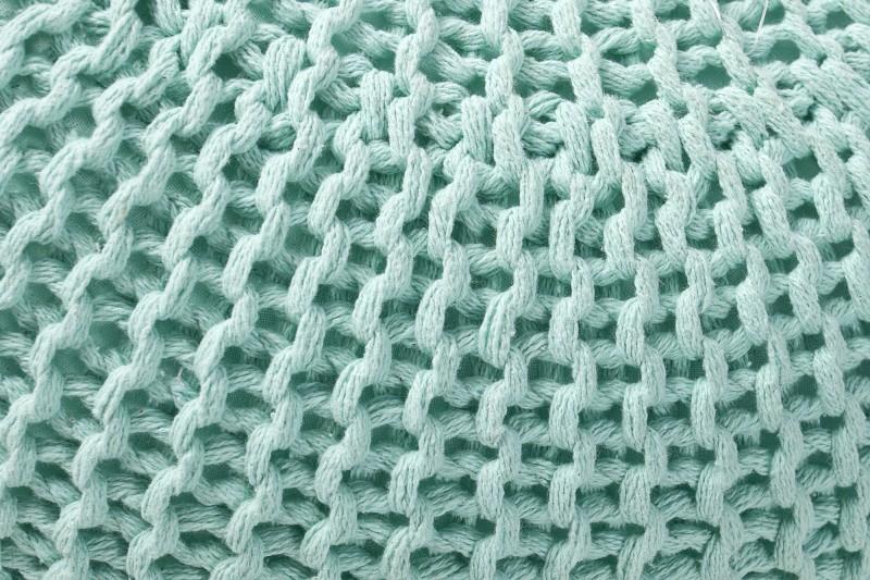 Podnožka Leeds 50cm - máta, pletená / 36626