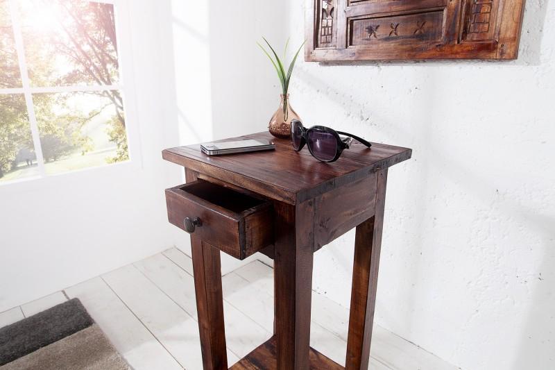 Odkládací stolek Hudson 25cm x 75cm - hnědý / 36632