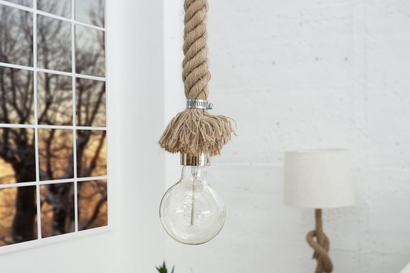 Závěsná lampa Sadie l - přírodní lano / 36748