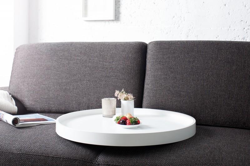 couchtisch modul 60cm weiss silber 36718 5015. Black Bedroom Furniture Sets. Home Design Ideas