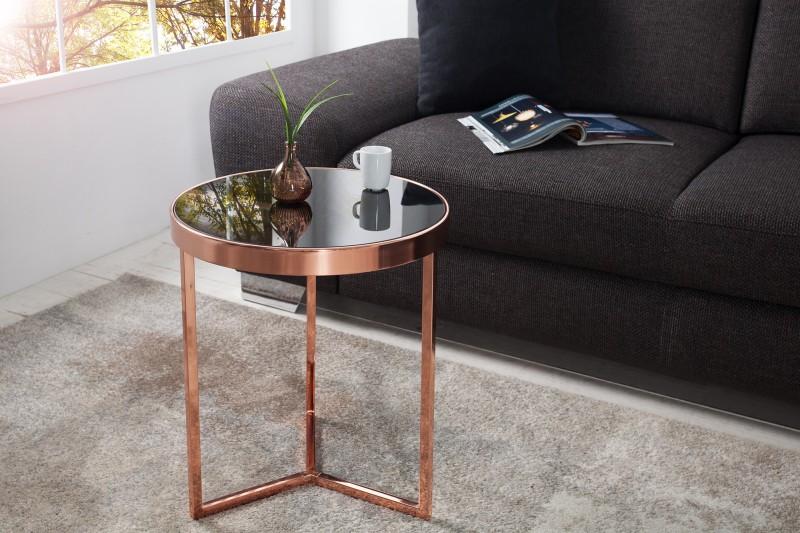 Odkládací stolek Art Deco 50cm - měď, černá / 36724