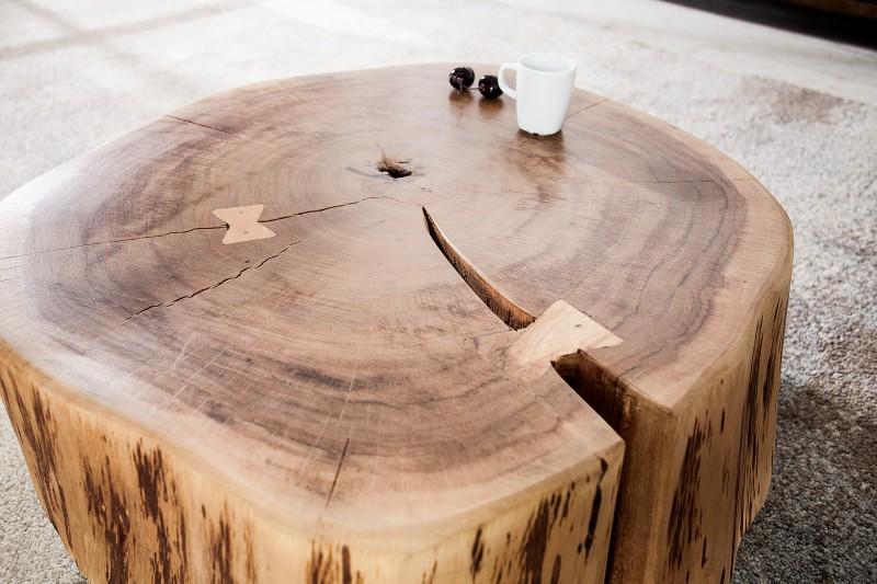 Konferenční stolek Stumpf 60cm x 55cm - přírodní akát / 36793