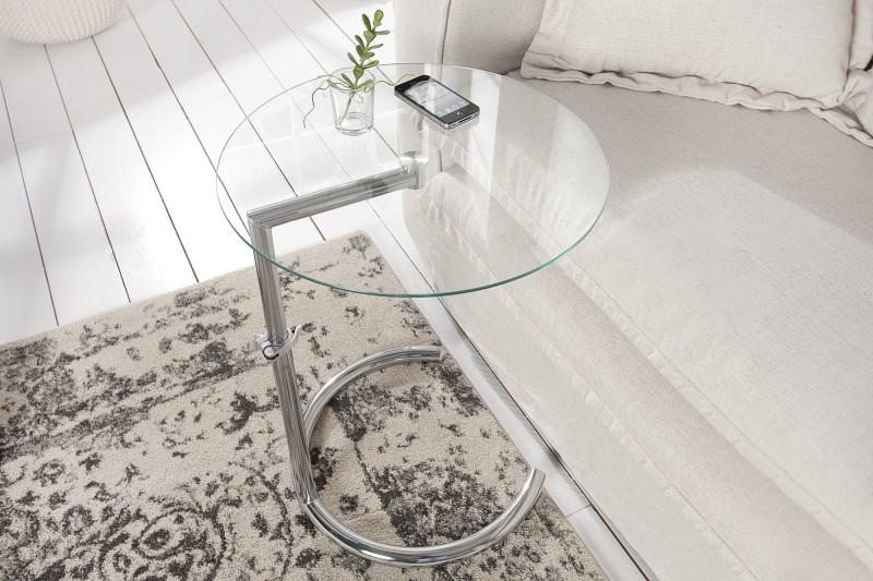 Odkládací stolek Effect 45cm -70cm - stříbrný / 36723