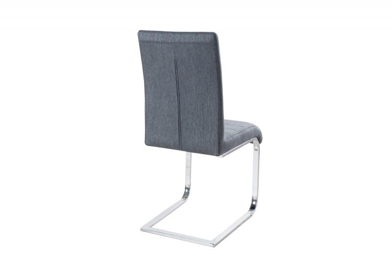 Konferenční židle Stuart šedá struktura / 36295