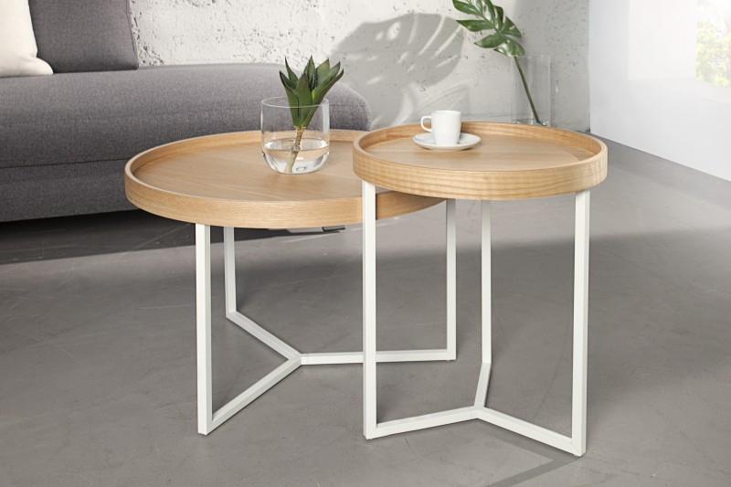 Konferenční stolek Modular 60cm - dub, bílá / 36720