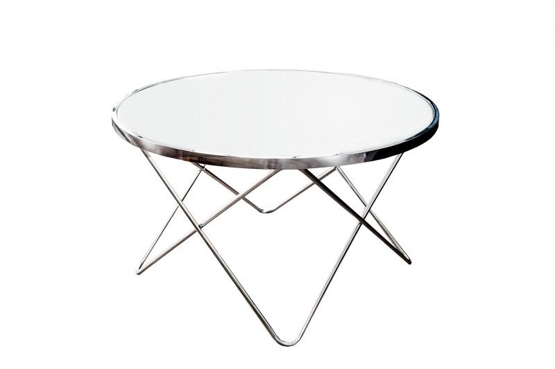 couchtisch orbit 85cm chrom weiss 36714 5011. Black Bedroom Furniture Sets. Home Design Ideas
