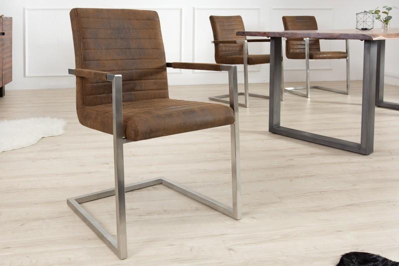 Jídelní židle Elsa - vintage hnědá / 37078