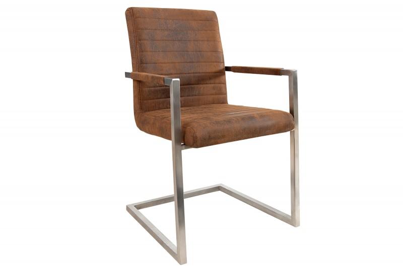 Jídelní židle Elsa - vintage hnědá / 37078 - 2ks skladem