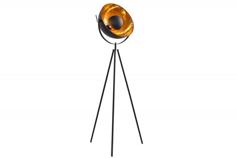 Stojací lampa Hollywood 140cm - černá, zlatá / 36617