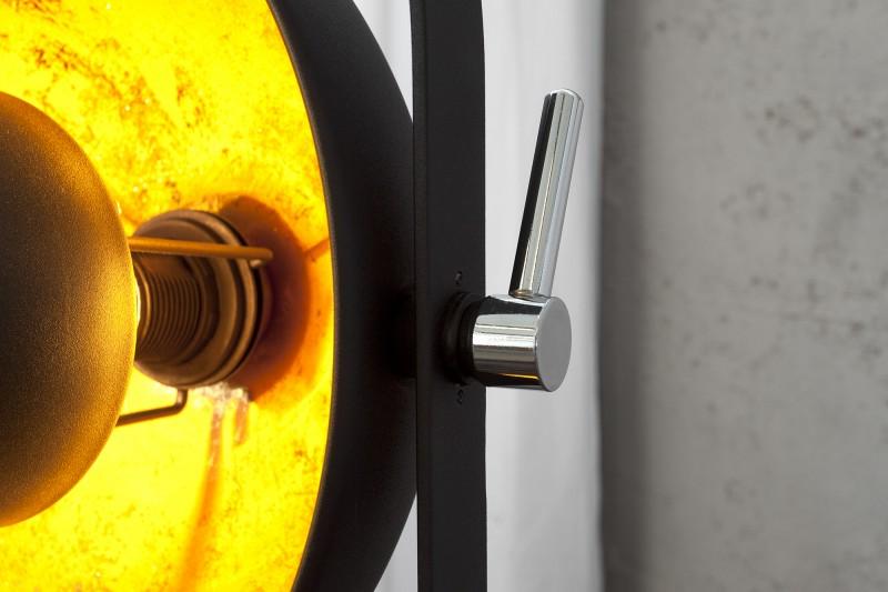 Stojací lampa Hollywood lll - černá, zlatá /22968