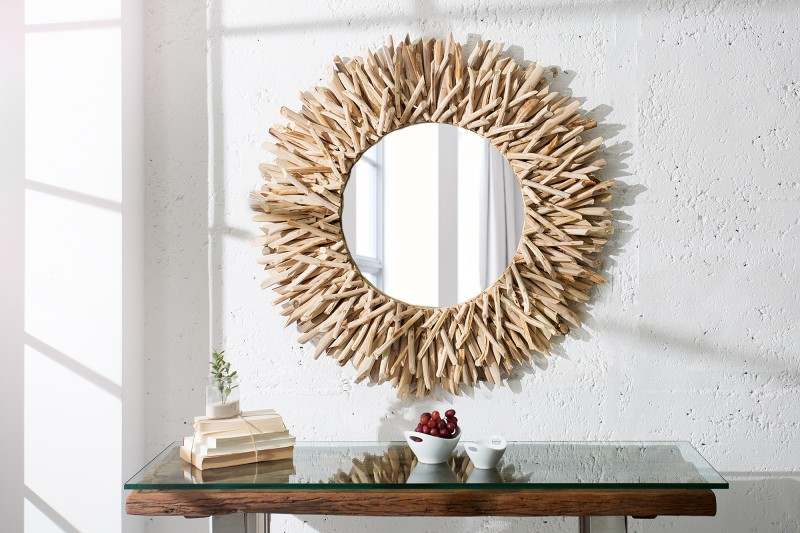 Nástěnné zrcadlo Riverside 80cm - naplavené dříví / 36577