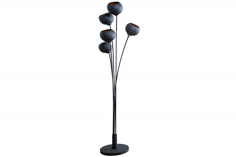 Stojací lampa Magma 170cm - černá, zlatá / 37004