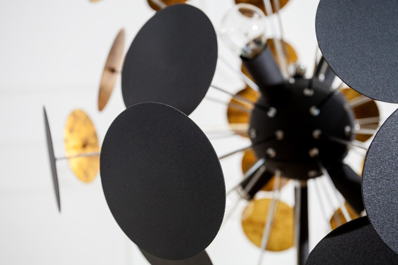 stehleuchte infinity 170cm schwarz gold 36839 5125. Black Bedroom Furniture Sets. Home Design Ideas