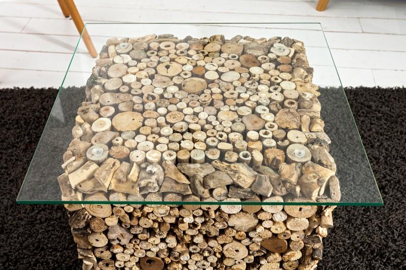 Couchtisch Fossil 45cm m Glasplatte 36583 5290