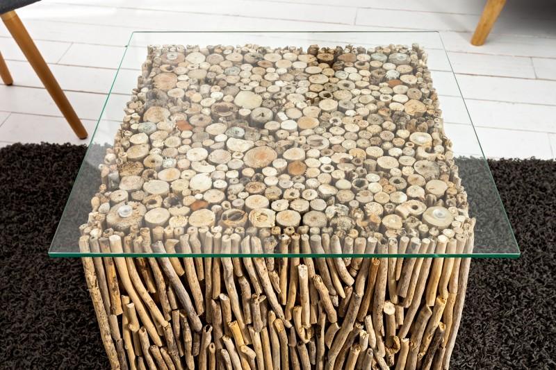 Couchtisch Fossil I 45cm m Glasplatte 36584 5291
