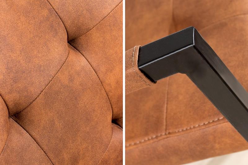 Jídelní židle Curtis - cognac hnědá / 36959 - 1ks skladem
