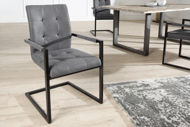 Jídelní  židle Curtis - šedá / 36960 - 2ks skladem