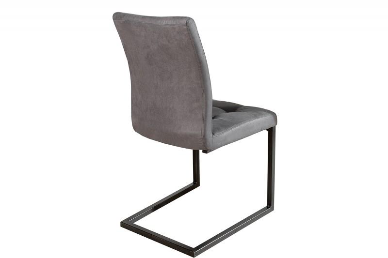 Konzolové křeslo Oxford šedé železo / 36962