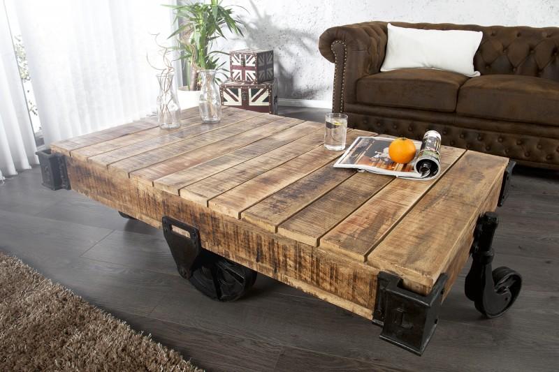 Konferenční stolek Trolley 120cm x 70cm - mango / 36788